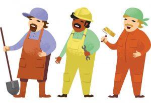 هزینه های پیمانکار ساختمان در دفتر حساب بابت کارگر روز مزد